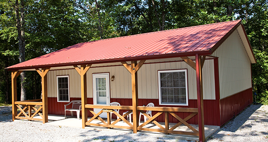 Outdoorsman Cabin - A romantic couples getaway cabin in the Shawnee Forest